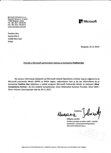 MICROSOFT partnerstvo potvrda 25112014 NOVO
