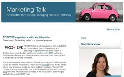 POSITIVE Case Study u primeni Drustvenih medija od strane Cisco Systems