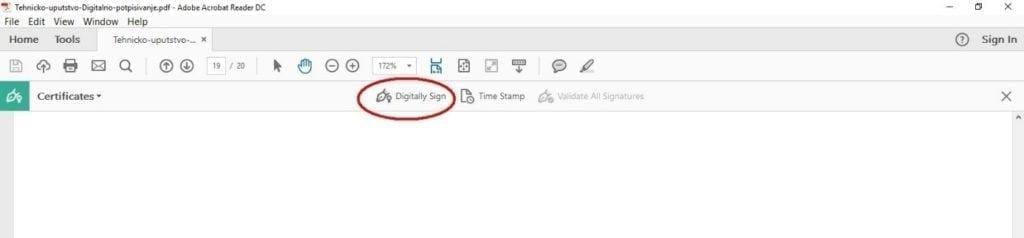 Slika 3: deo postupka digitalnog potpisivanja